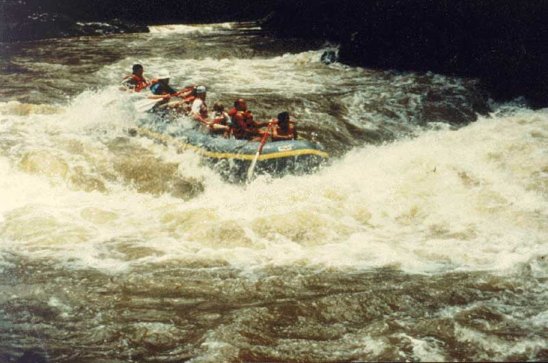 High Water Corkscrew Rapid  by Ricardo Matta - Maya Expeditions