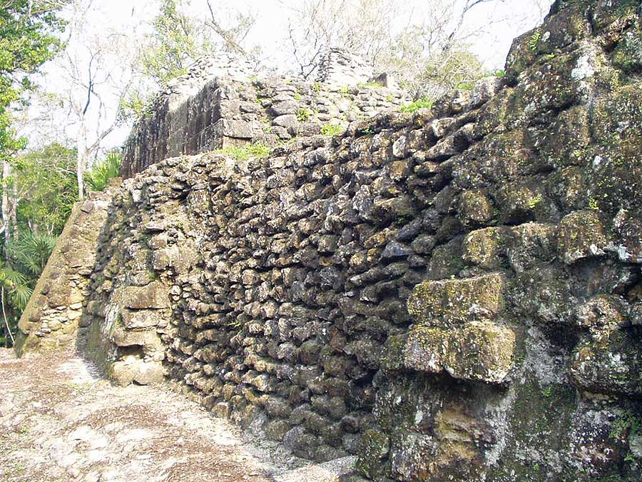 Uaxactun Temple A - photo by Les Mahoney - Copper Canyon Adventures - Maya Expeditions