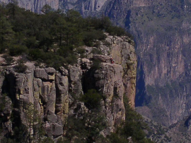 Zoom of Escalera Rock - Copper Canyon - Maya Expeditions