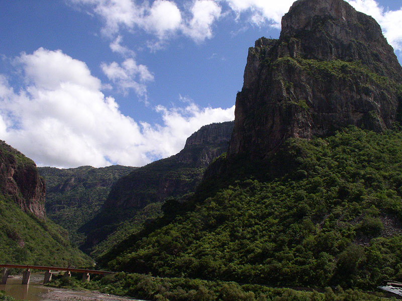 View of Temoris Curve - Copper Canyon Adventures trip - Maya Expeditions
