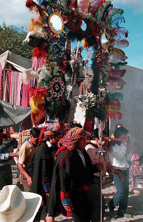 Cofradia procession - Chichicastenango - Maya Expeditions