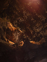 Mico Cave - Dry portion - Ray of sunlight - Maya Expeditions