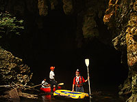 Candelaria Cave - Local guide with Roberto at Entrance to Cave - Maya Expeditions
