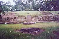 Takalik Abaj  Plaza Maya Ritual Fire Circle - Maya Expeditions