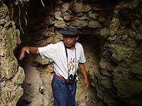 Looters Dig - Local Guide Victor - El Peru Photo Gallery - Maya Expeditions