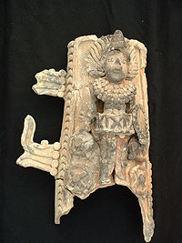 La Joyanca Incense Burner decorations - Maya Archaeology Site