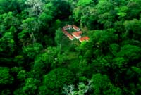 Dos Pilas camp - Aerial - Maya Expeditions