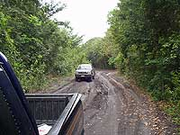 4-wheel drive road to San Bartolo and Xultun - photo by Les Mahoney - Copper Canyon Adventures - San Bartolo Murals - Maya Expeditions