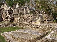 Uaxactun Altar at Temple - photo by Les Mahoney - Copper Canyon Adventures - Maya Expeditions