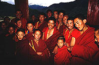 Tibetian monks on the Yangtze River - photo by Shao Hong, China Adventure Travel - Maya Expeditions