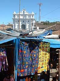 Chichicastenango Market in front of Church Santo Tomas - Maya Expeditions